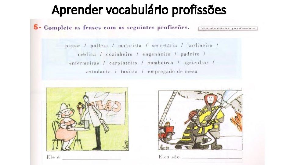 Aprender vocabulário profissões