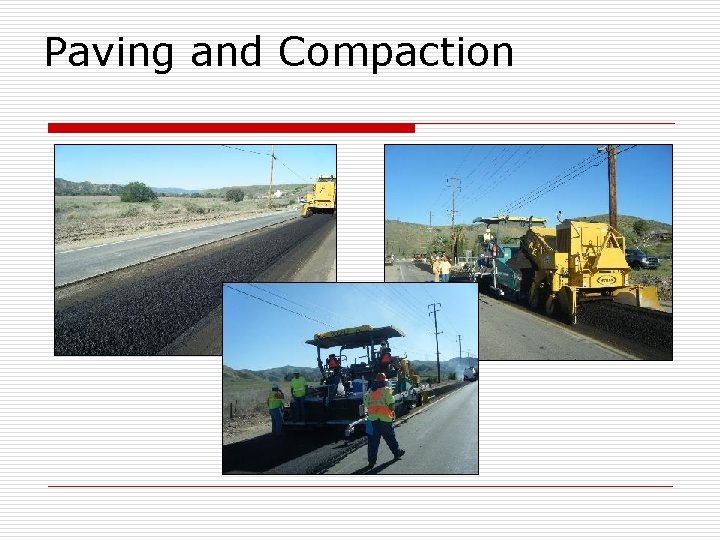 Paving and Compaction