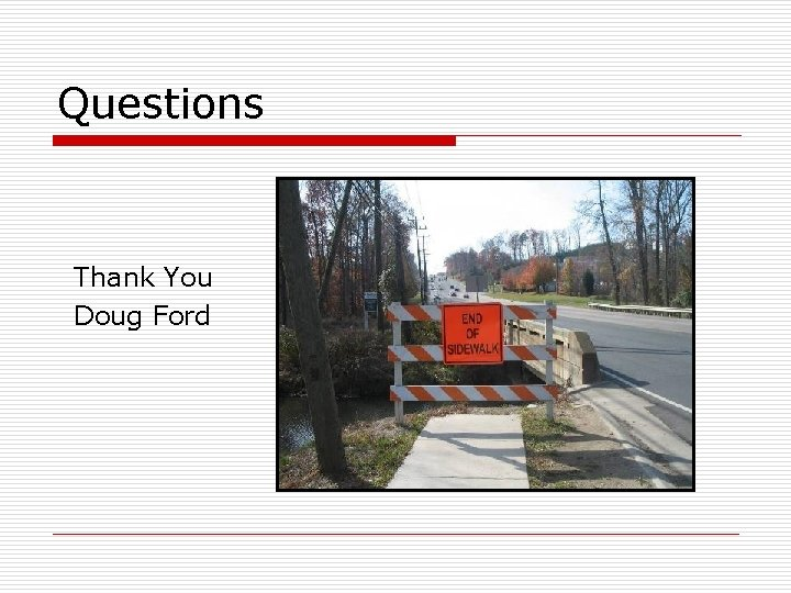 Questions Thank You Doug Ford