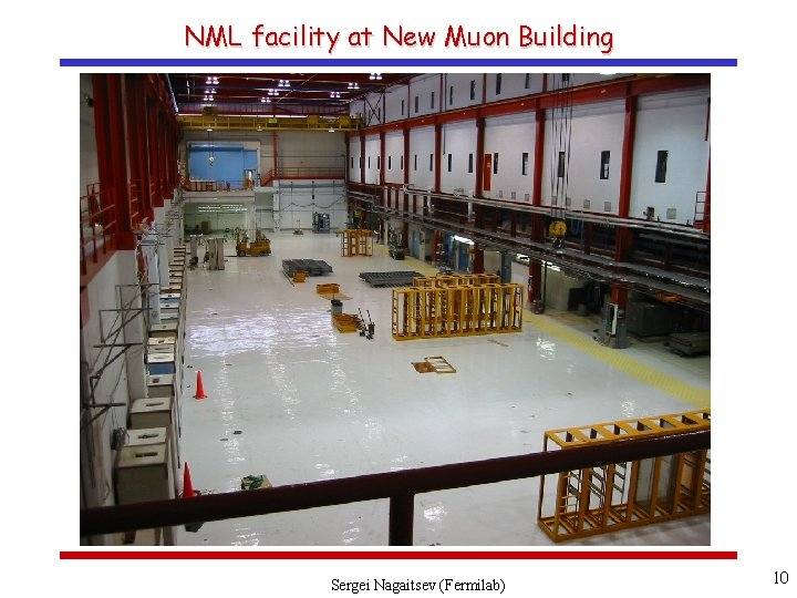 NML facility at New Muon Building Sergei Nagaitsev (Fermilab) 10
