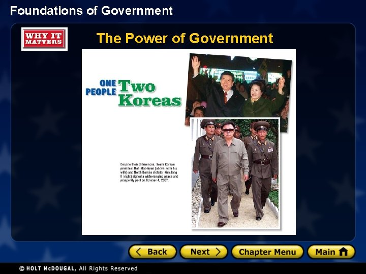 Foundations of Government The Power of Government