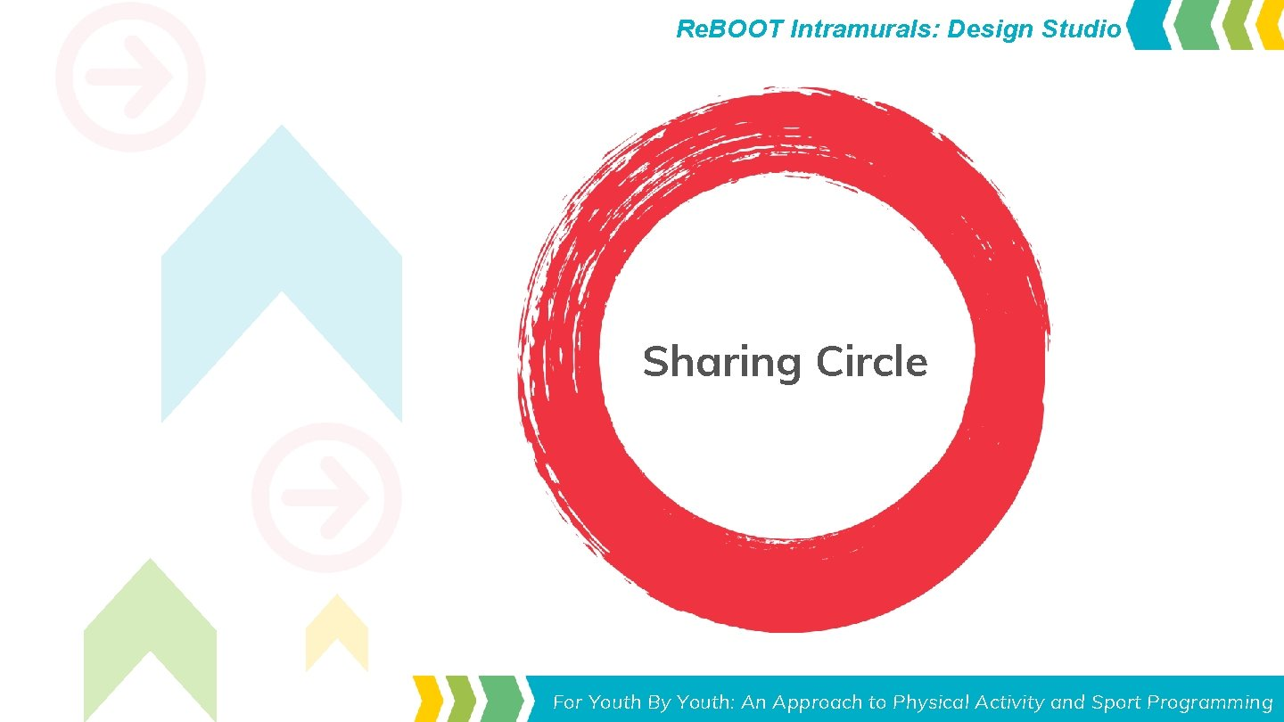 Re. BOOT Intramurals: Design Studio Sharing Circle Toolkit for Leaders Youth Approach to Physical