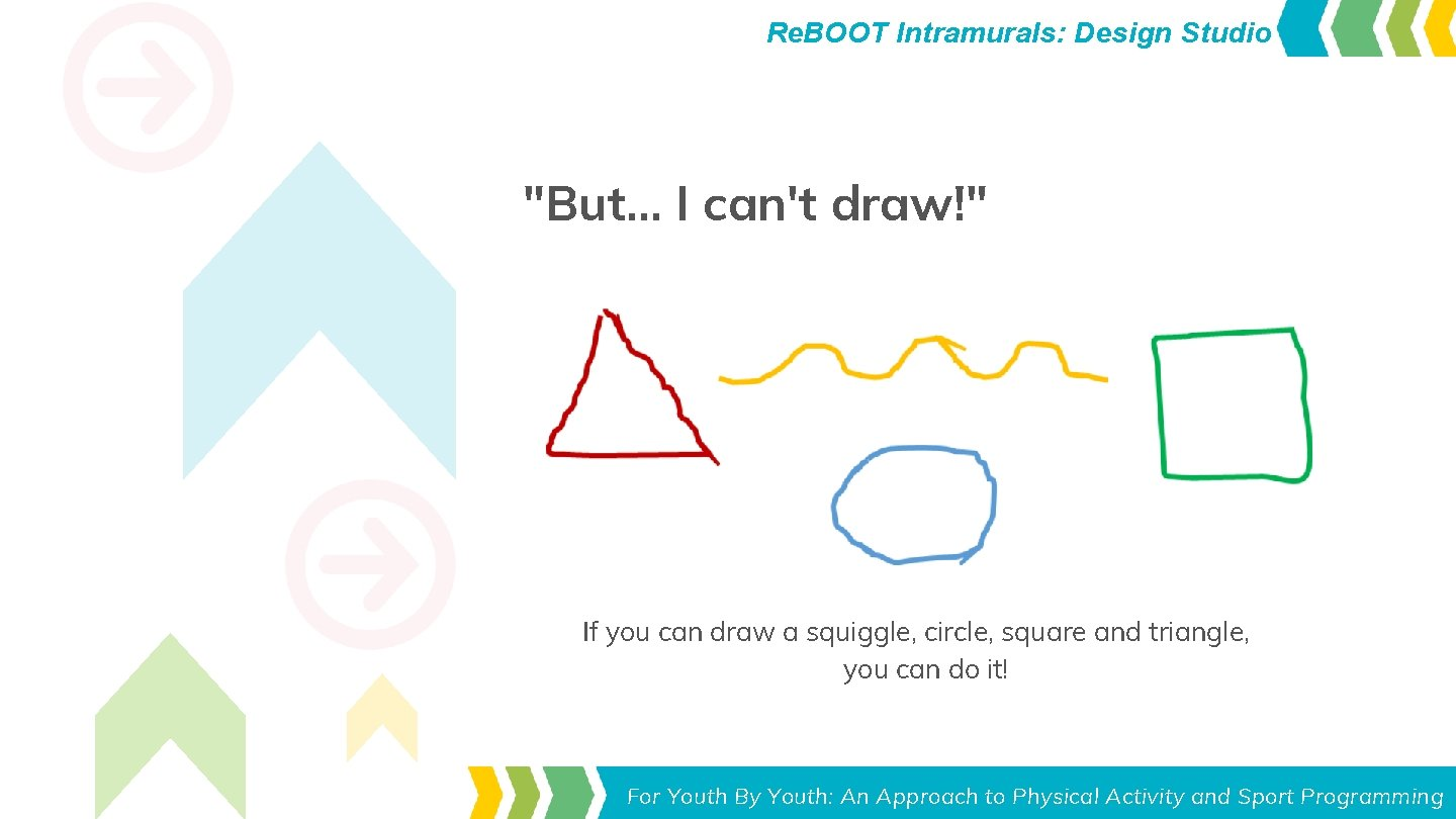 "Re. BOOT Intramurals: Design Studio ""But. . . I can't draw!"" If you can"