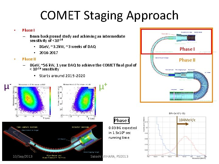 COMET Staging Approach • • Phase I – Beam background study and achieving an