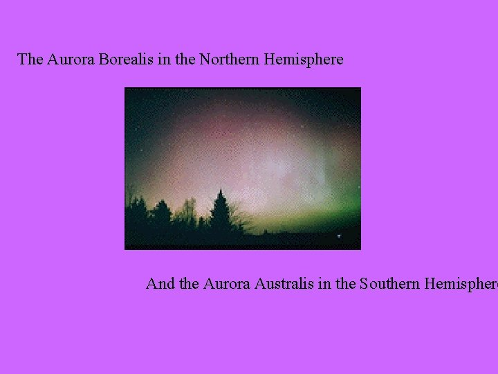 The Aurora Borealis in the Northern Hemisphere And the Aurora Australis in the Southern