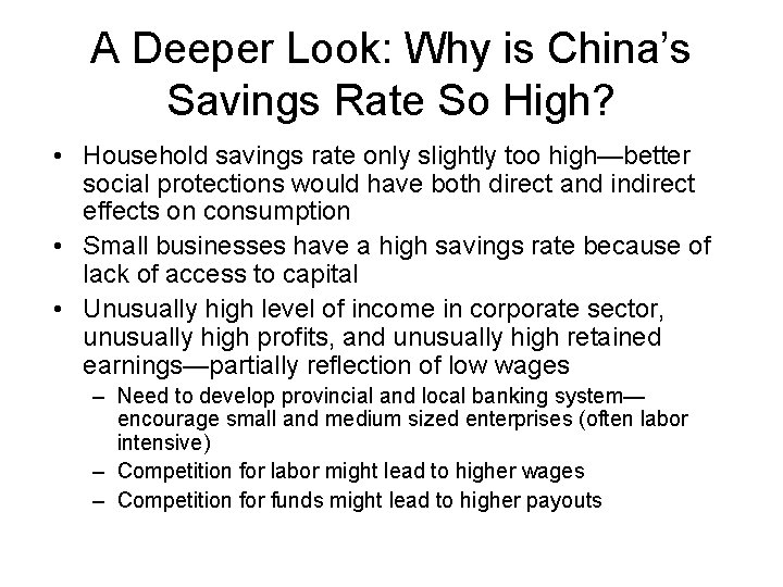 A Deeper Look: Why is China's Savings Rate So High? • Household savings rate