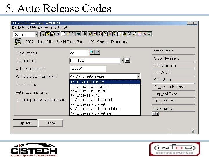 5. Auto Release Codes