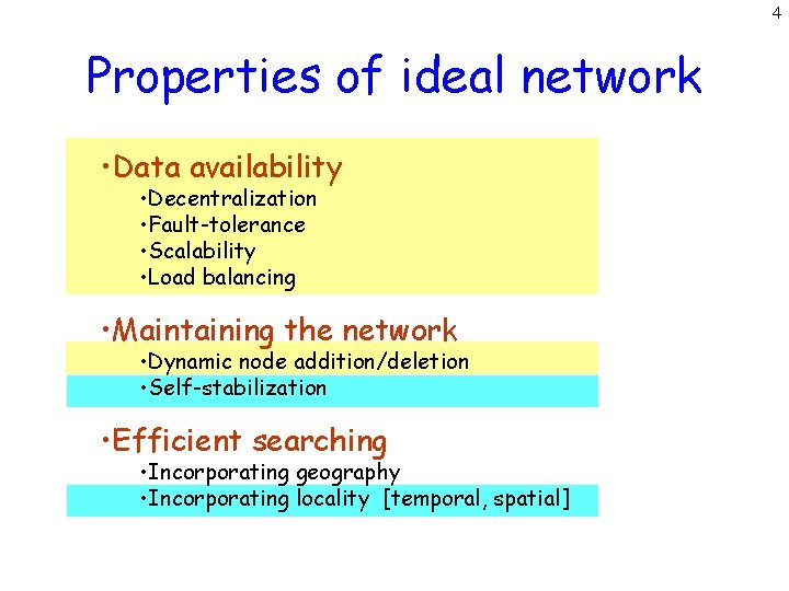 4 Properties of ideal network • Data availability • Decentralization • Fault-tolerance • Scalability
