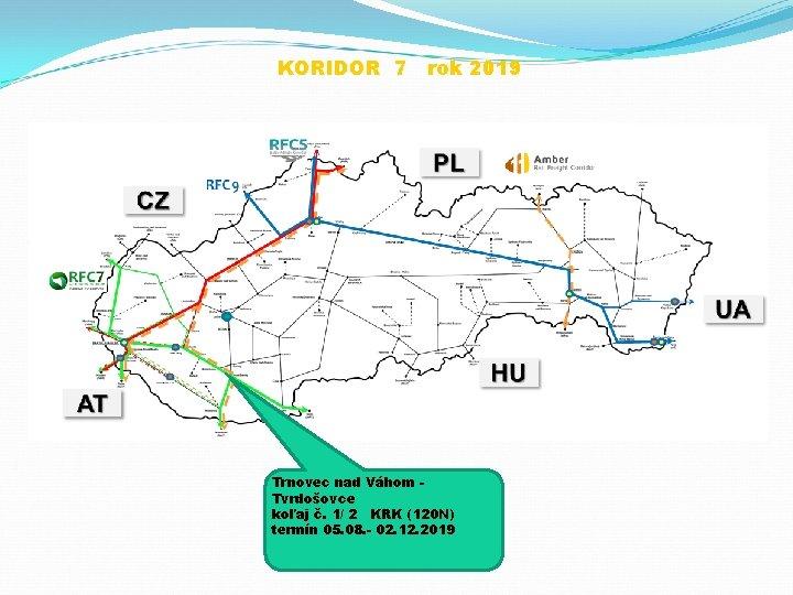 KORIDOR 7 rok 2019 Trnovec nad Váhom Tvrdošovce koľaj č. 1/ 2 KRK (120