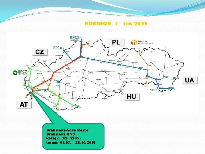 KORIDOR 7 rok 2019 Bratislava-Nové Mesto – Bratislava ÚNS koľaj č. 1/2 (120 N)