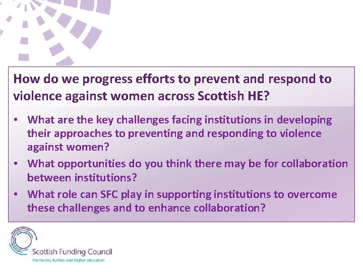 How do we progress efforts to prevent and respond to violence against women across