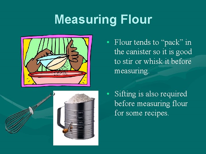 """Measuring Flour • Flour tends to """"pack"""" in the canister so it is good"""