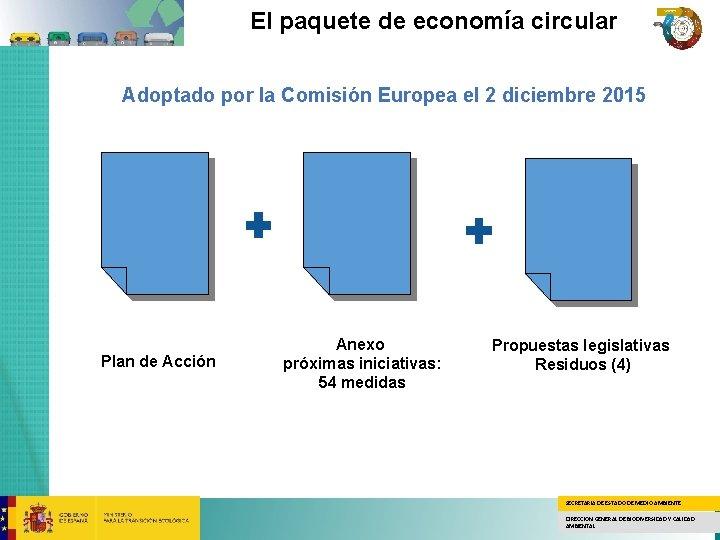 El paquete de economía circular Adoptado por la Comisión Europea el 2 diciembre 2015
