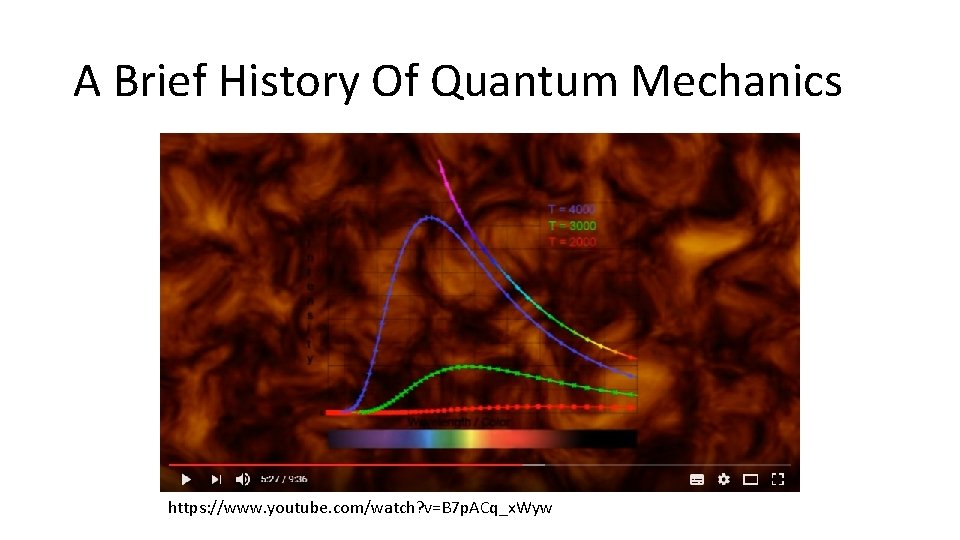 A Brief History Of Quantum Mechanics https: //www. youtube. com/watch? v=B 7 p. ACq_x.