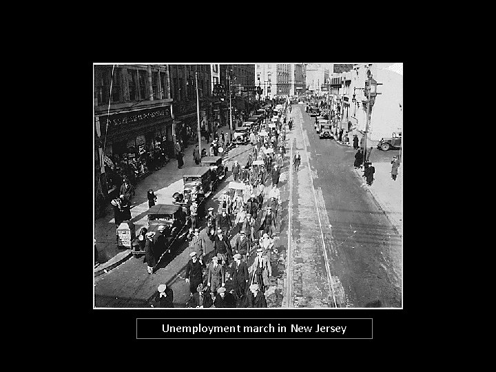 Unemployment march in New Jersey