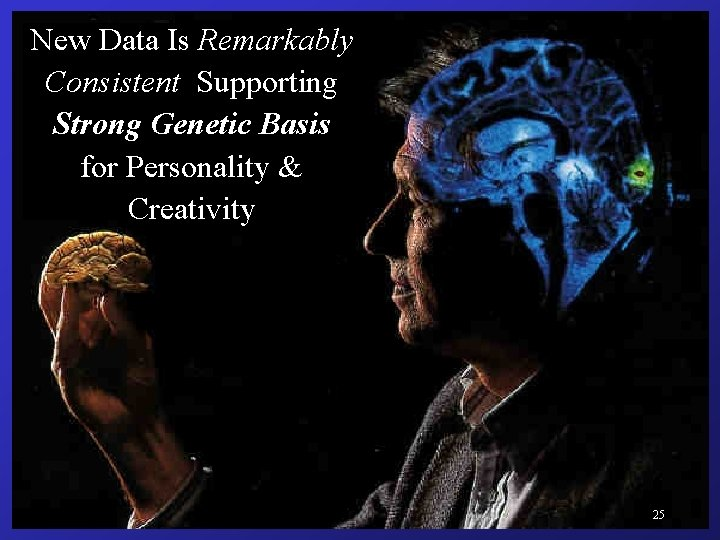 New Data Is Remarkably Consistent Supporting Strong Genetic Basis for Personality & Creativity Win.