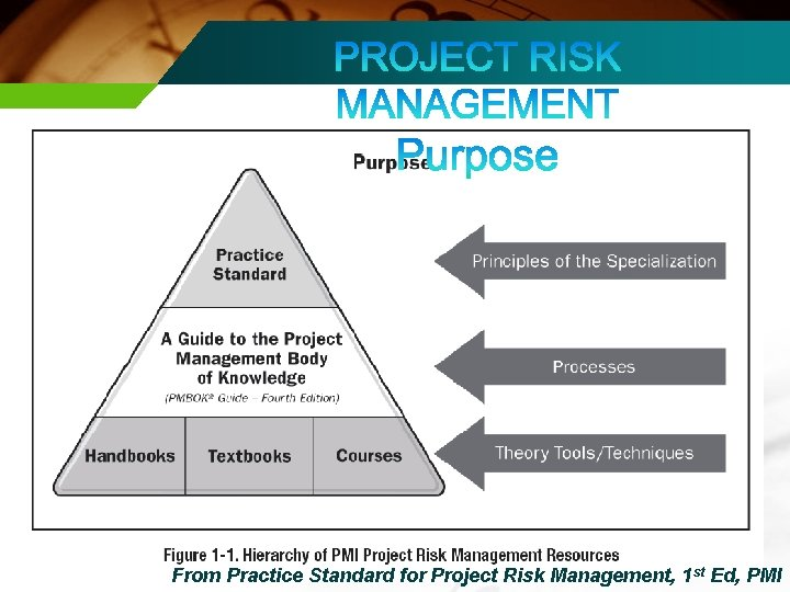 From Practice Standard for Project Risk Management, 1 st Ed, PMI