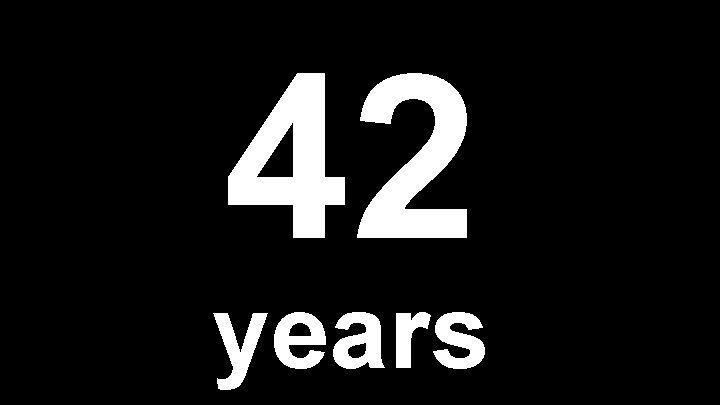 42 years