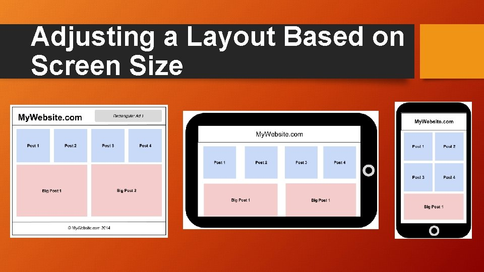 Adjusting a Layout Based on Screen Size
