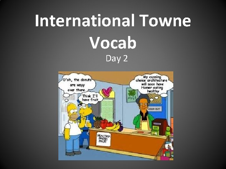 International Towne Vocab Day 2
