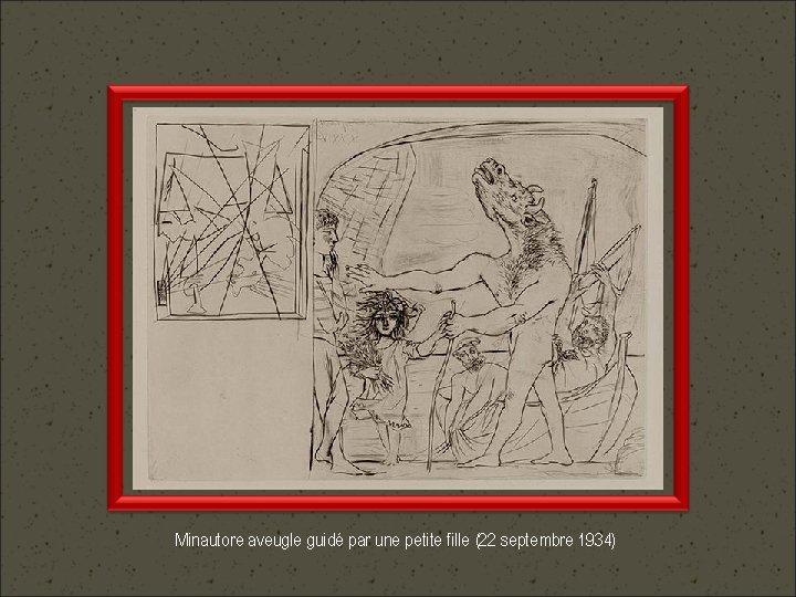 Minautore aveugle guidé par une petite fille (22 septembre 1934)