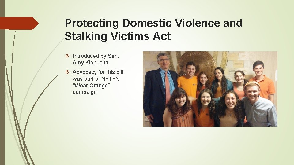 Protecting Domestic Violence and Stalking Victims Act Introduced by Sen. Amy Klobuchar Advocacy for