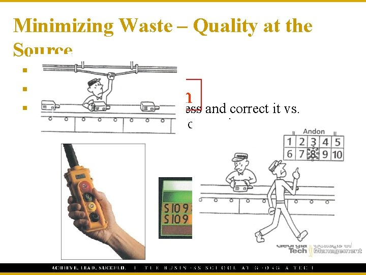 """Minimizing Waste – Quality at the Source § """"Do it right the first time"""""""