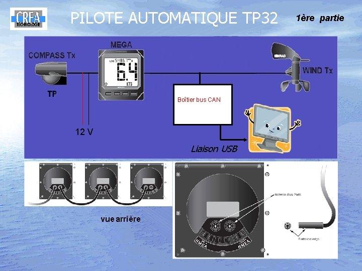 PILOTE AUTOMATIQUE TP 32 Boîtier bus CAN 12 V Liaison USB vue arrière 1ère