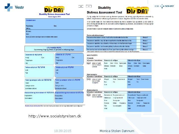 http: //www. socialstyrelsen. dk 18. 09. 2015 Monica Stolen Dønnum