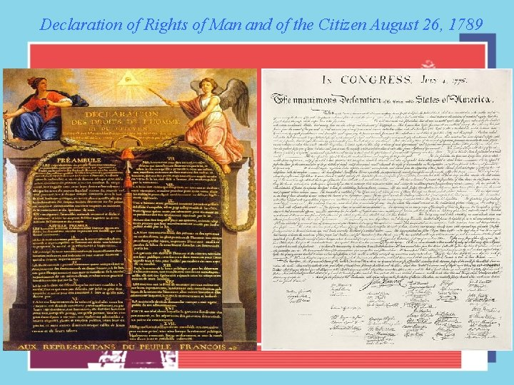 Declaration of Rights of Man and of the Citizen August 26, 1789