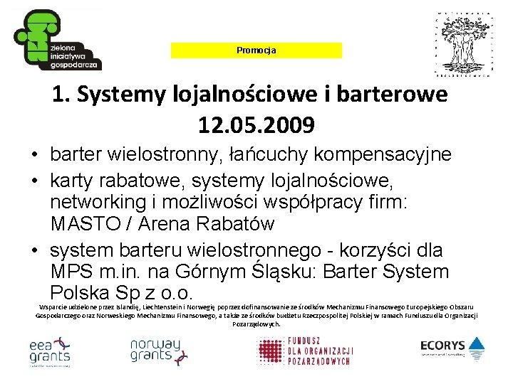 Przykłady systemu handlu barterowego