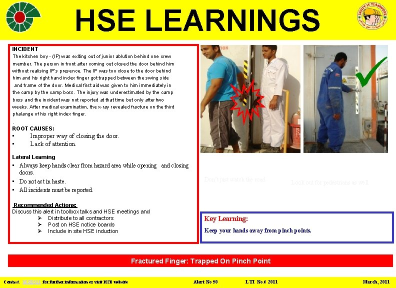 Hse Learnings Incident The Kitchen Boy Ip Was