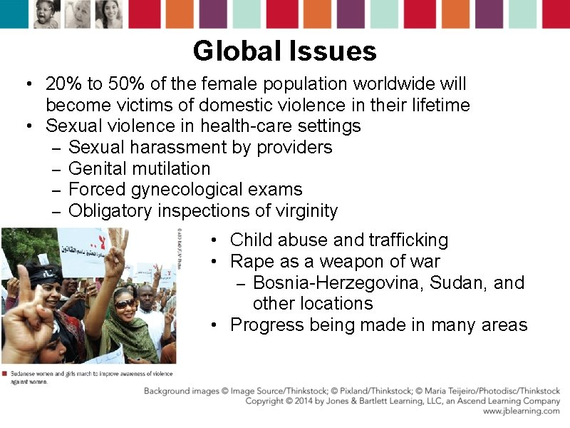 Global Issues • 20% to 50% of the female population worldwide will become victims