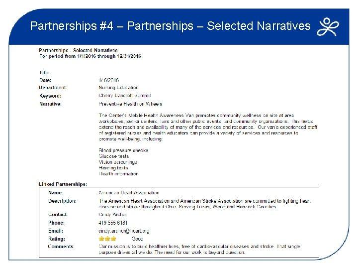 Partnerships #4 – Partnerships – Selected Narratives