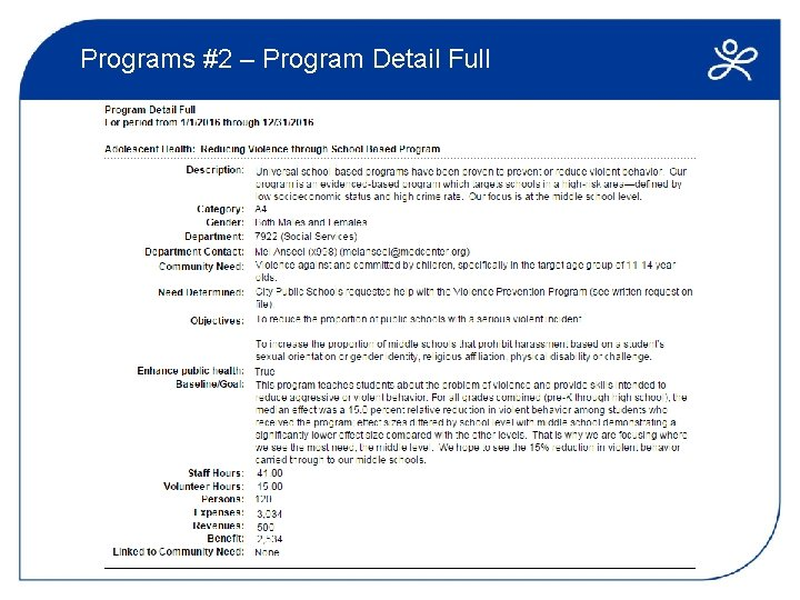 Programs #2 – Program Detail Full