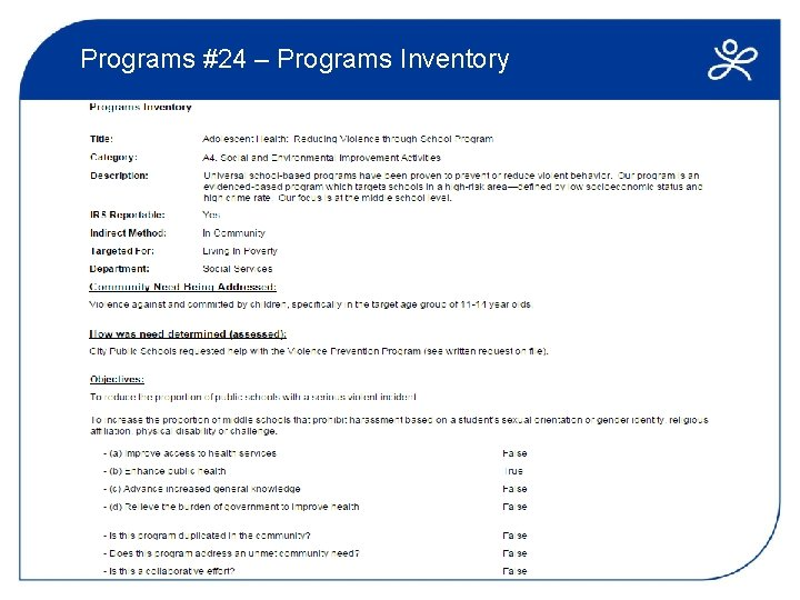 Programs #24 – Programs Inventory
