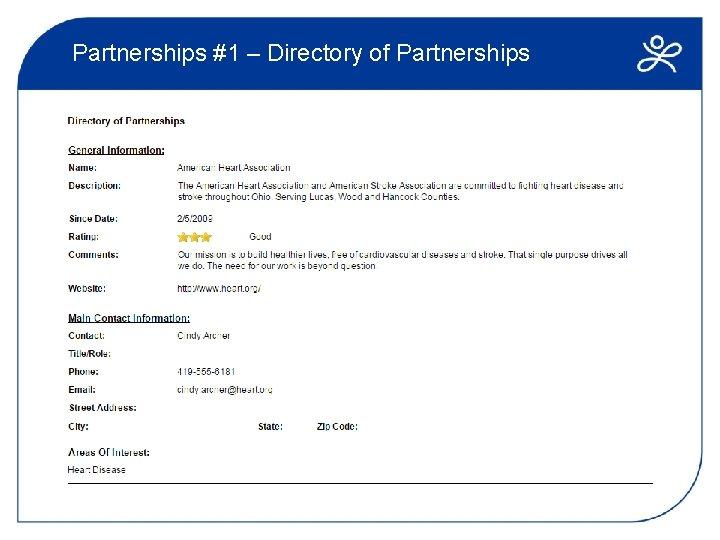 Partnerships #1 – Directory of Partnerships
