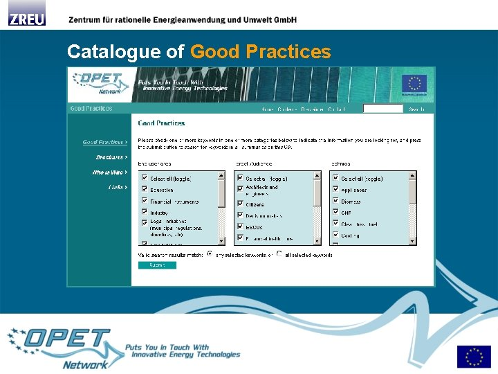 Catalogue of Good Practices