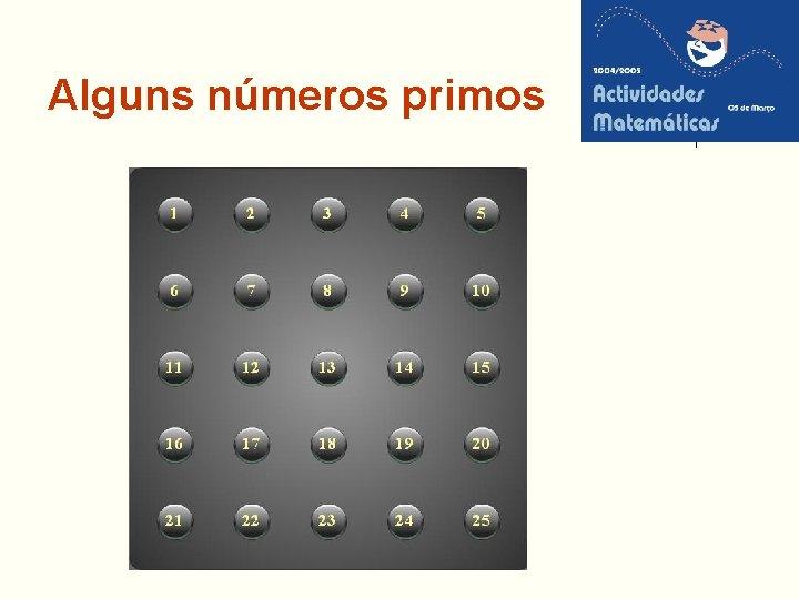 Alguns números primos