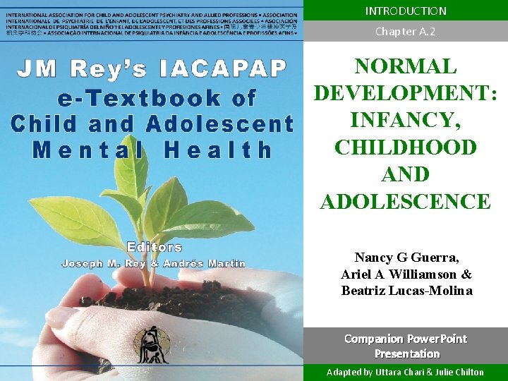 INTRODUCTION Chapter A. 2 NORMAL DEVELOPMENT: INFANCY, CHILDHOOD AND ADOLESCENCE DEPRESSION IN CHILDREN AND