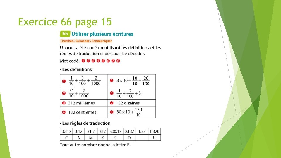 Exercice 66 page 15