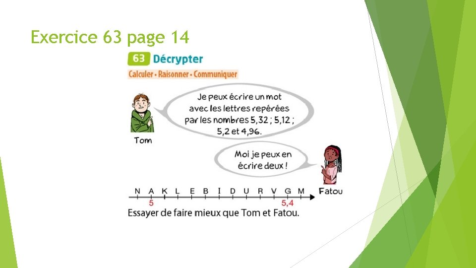 Exercice 63 page 14