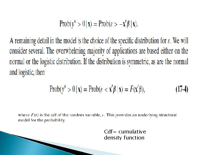 Cdf= cumulative density function