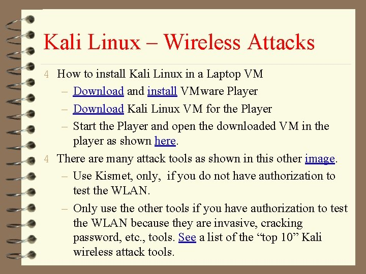 Kali Linux – Wireless Attacks 4 How to install Kali Linux in a Laptop