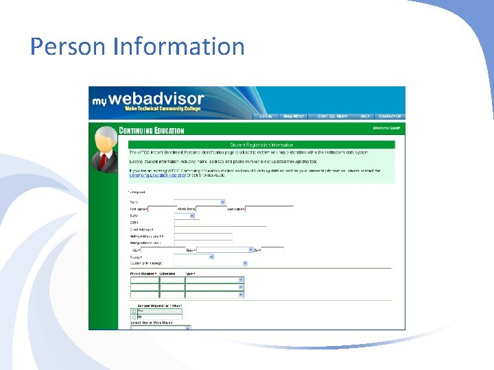 Person Information