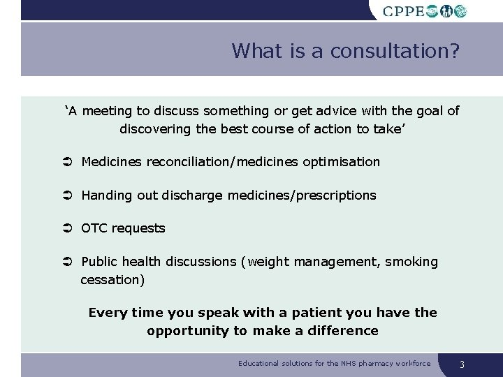 What is a consultation? 'A meeting to discuss something or get advice with the