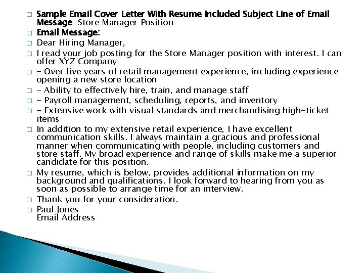 Cover Letters Email When Youre Sending