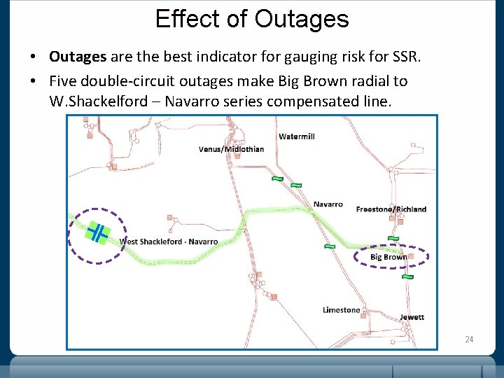 Effect of Outages • Outages are the best indicator for gauging risk for SSR.