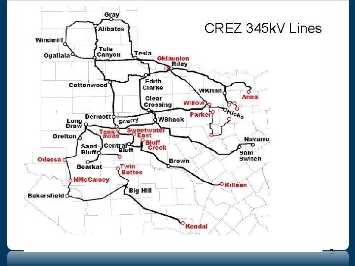 CREZ 345 k. V Lines 7