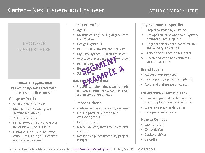 """Carter – Next Generation Engineer PHOTO OF """"CARTER"""" HERE """"I want a supplier who"""